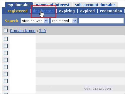 eNom中DNS解析服务的管理